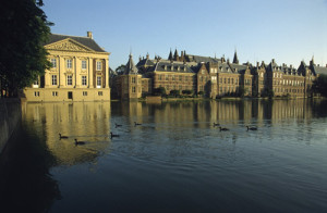 Het Binnenhof, the Dutch parliament buildings